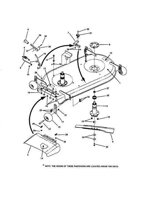 small resolution of 42 mower deck pt 1 diagram and parts list for snapper ridingmower