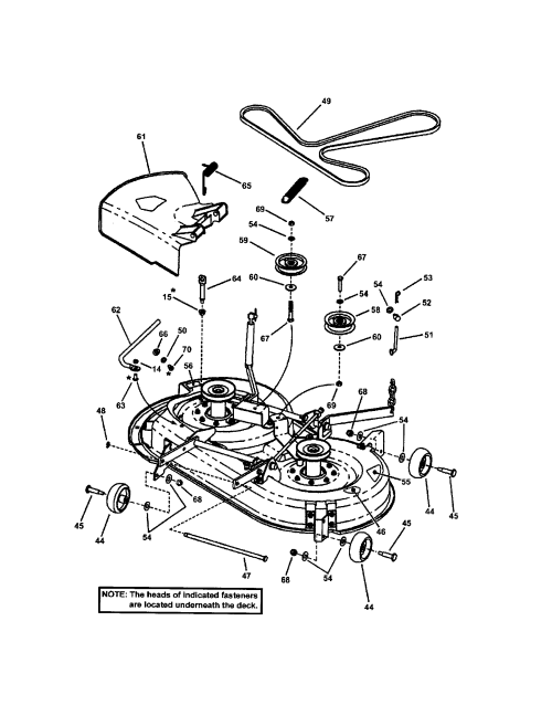 small resolution of snapper yz16335bve 38 mower deck part 3 diagram