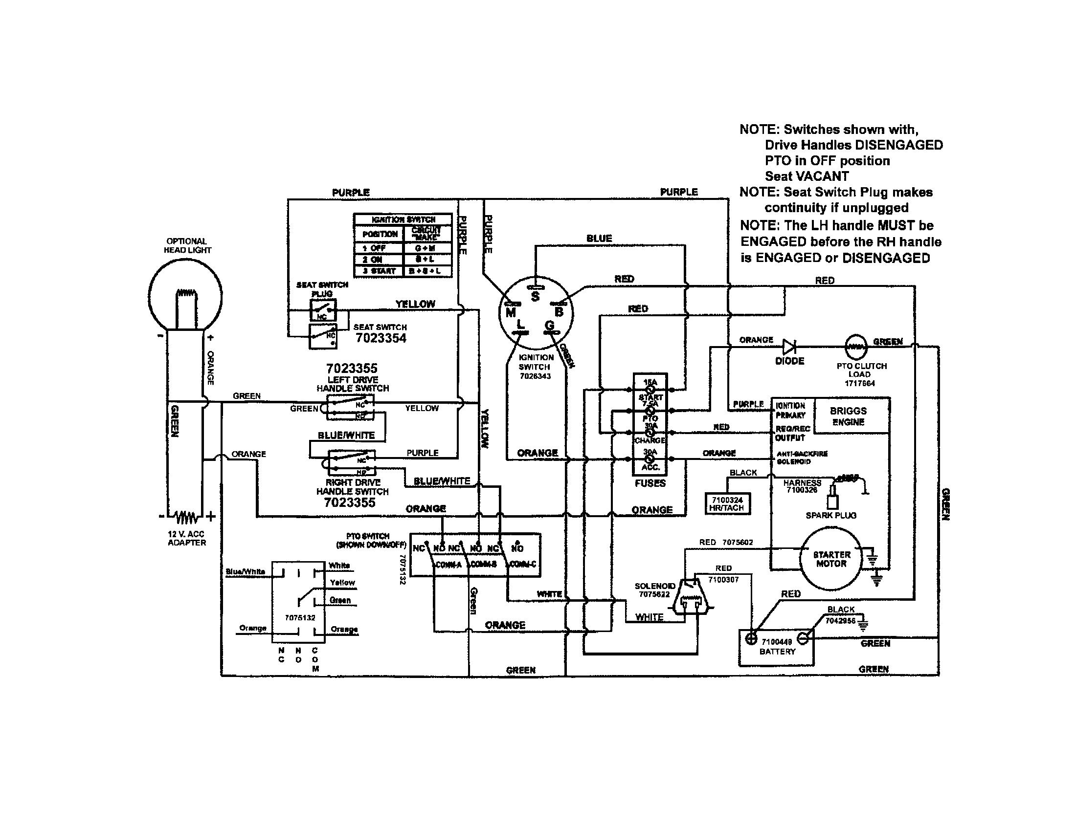 hight resolution of snapper rzt22500bve2 7800011 wiring schematic briggs engine diagram
