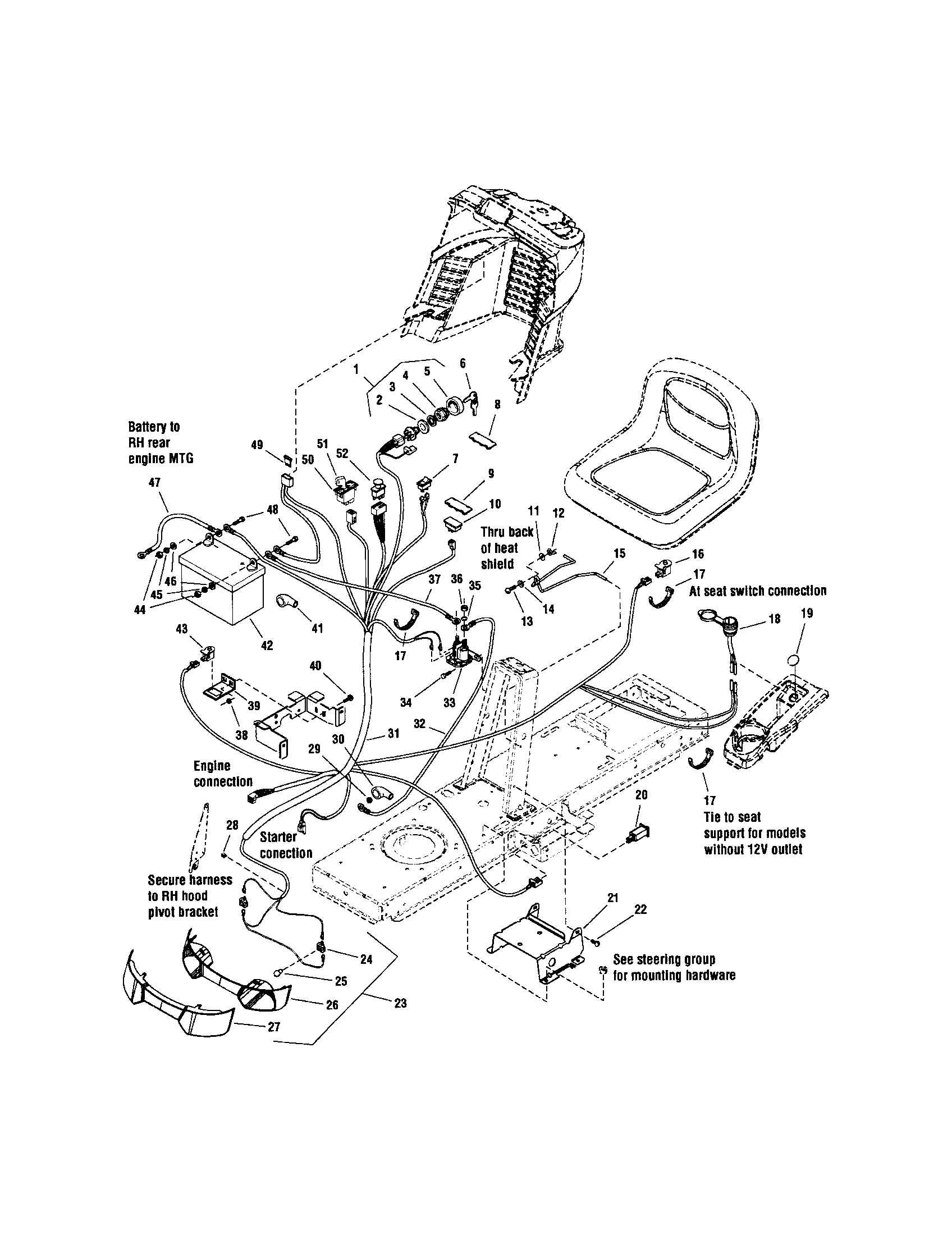 ELECTRICAL Diagram & Parts List for Model 2690441 Snapper