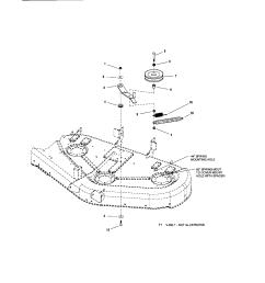 snapper rmo tractor series lt 200 belt idler arm hitch parts [ 1696 x 2200 Pixel ]