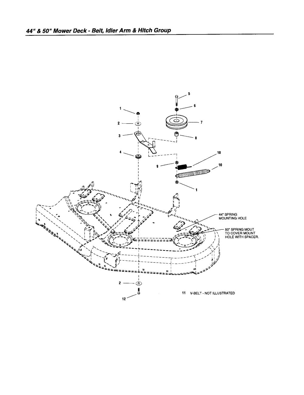 medium resolution of snapper rmo tractor series lt 200 belt idler arm hitch parts