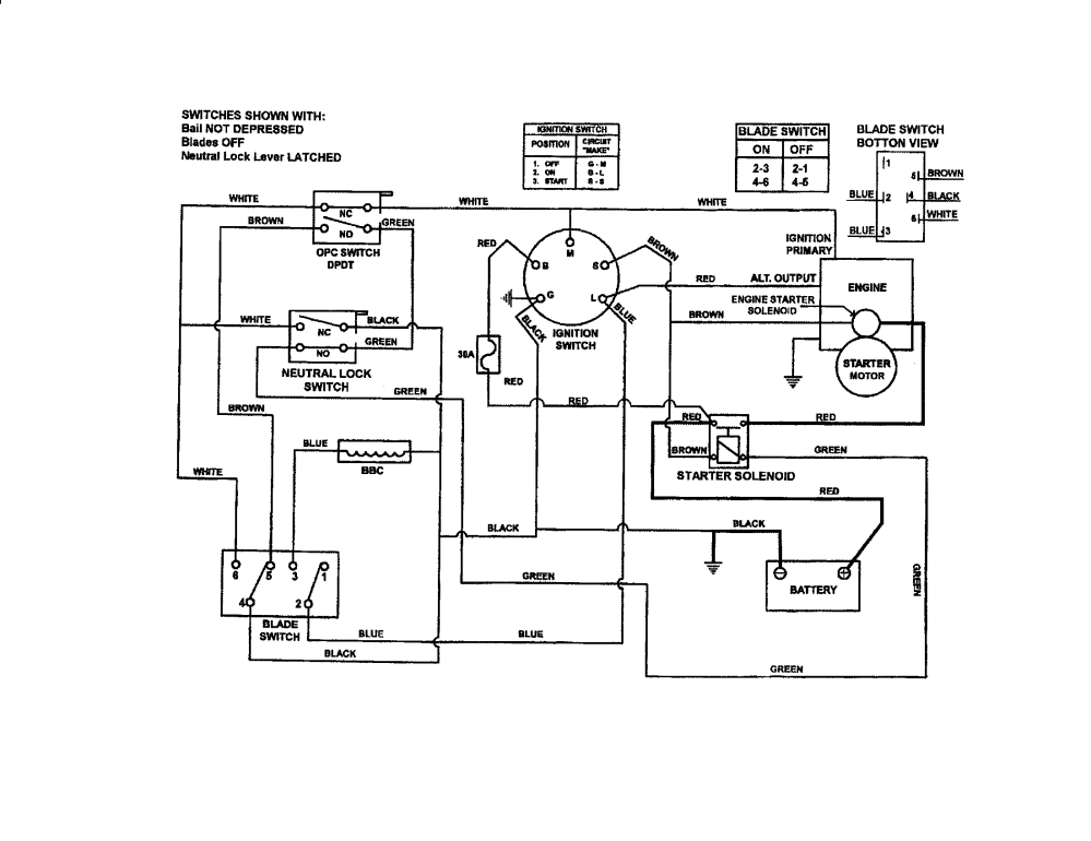 medium resolution of snapper spa610 series 1 2 wiring schematic electric start diagram