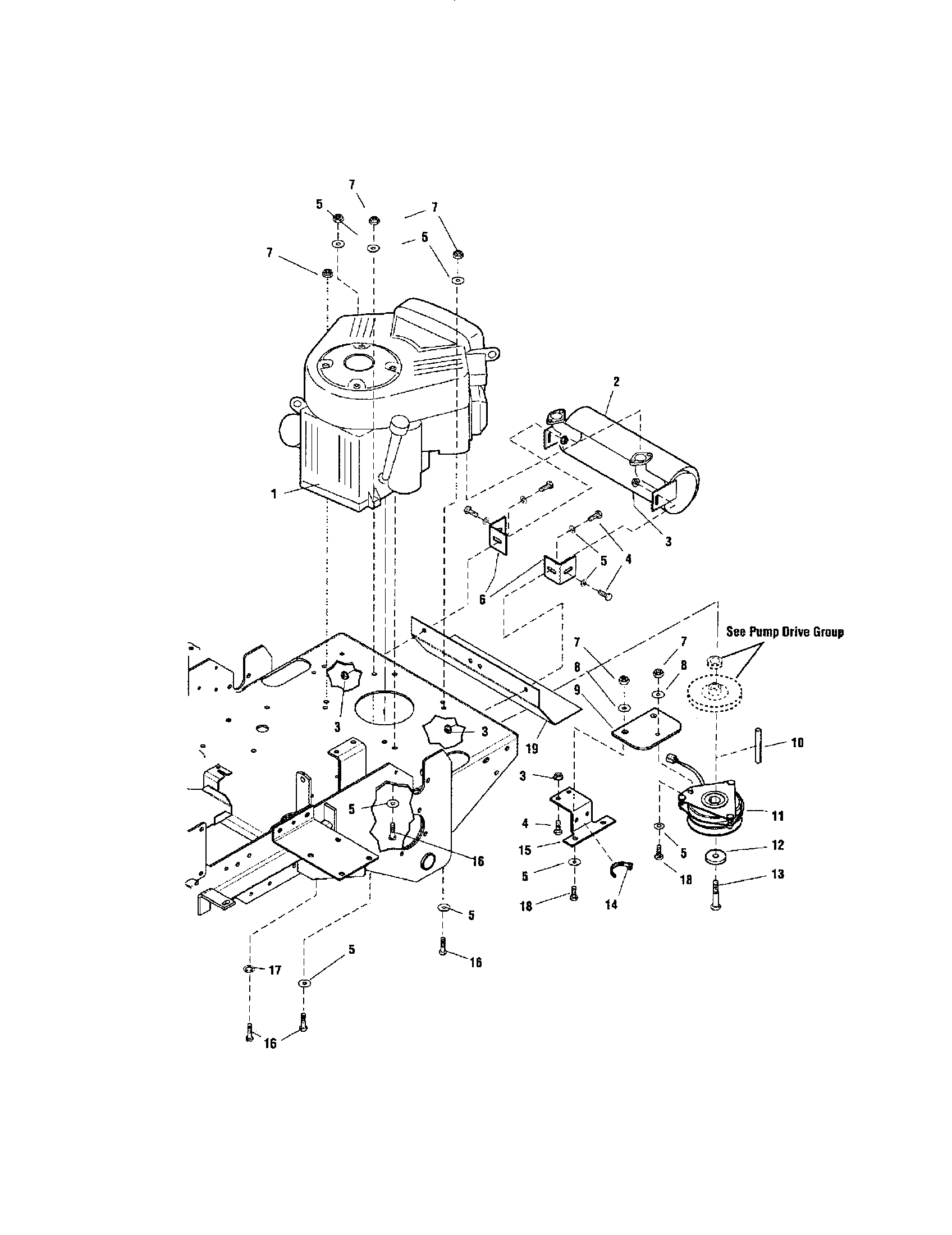 ENGINE/PTO-BRIGGS & STRATTON Diagram & Parts List for