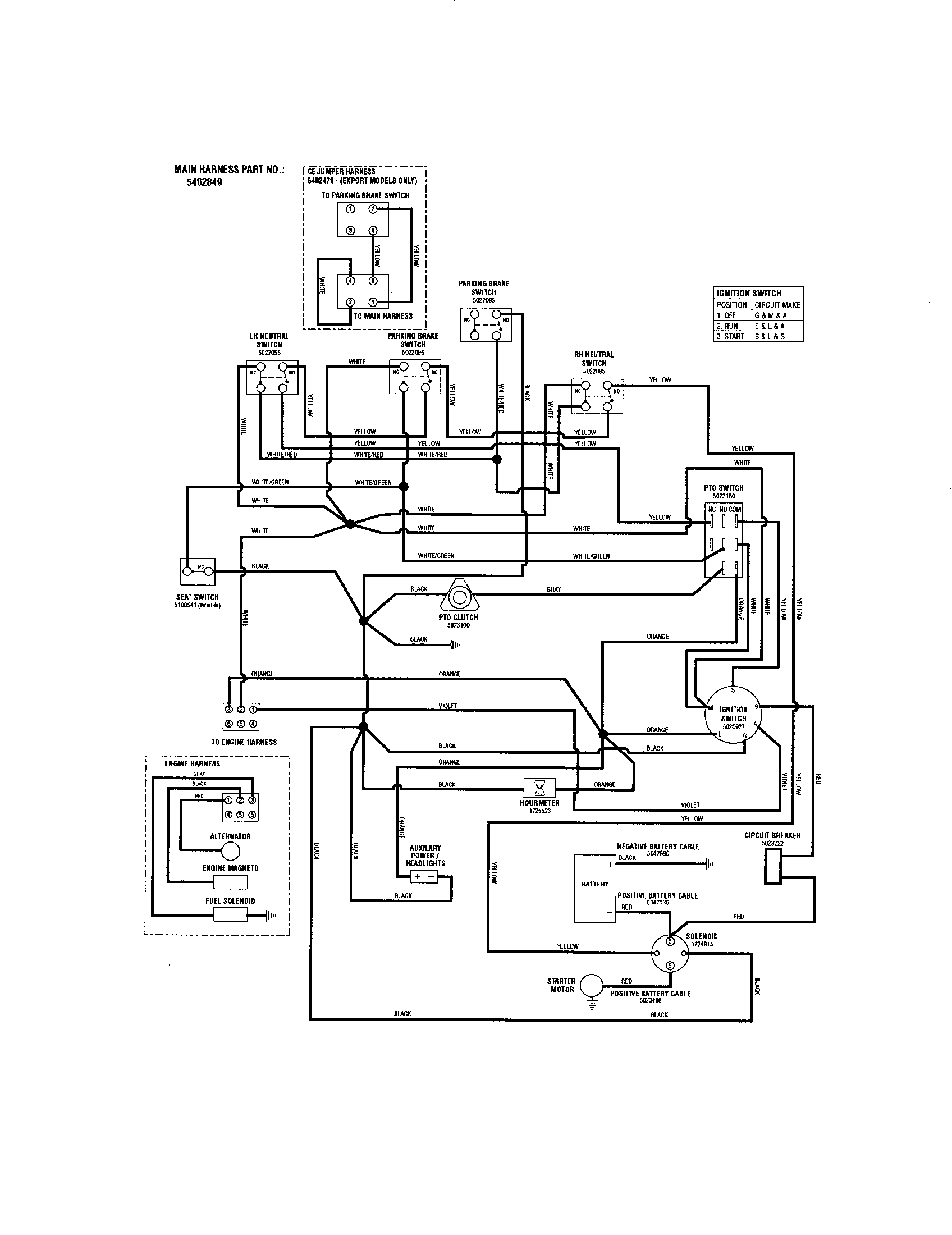 hight resolution of snapper ezt20501bv 5901166 wiring schematic 24 hp b s diagram