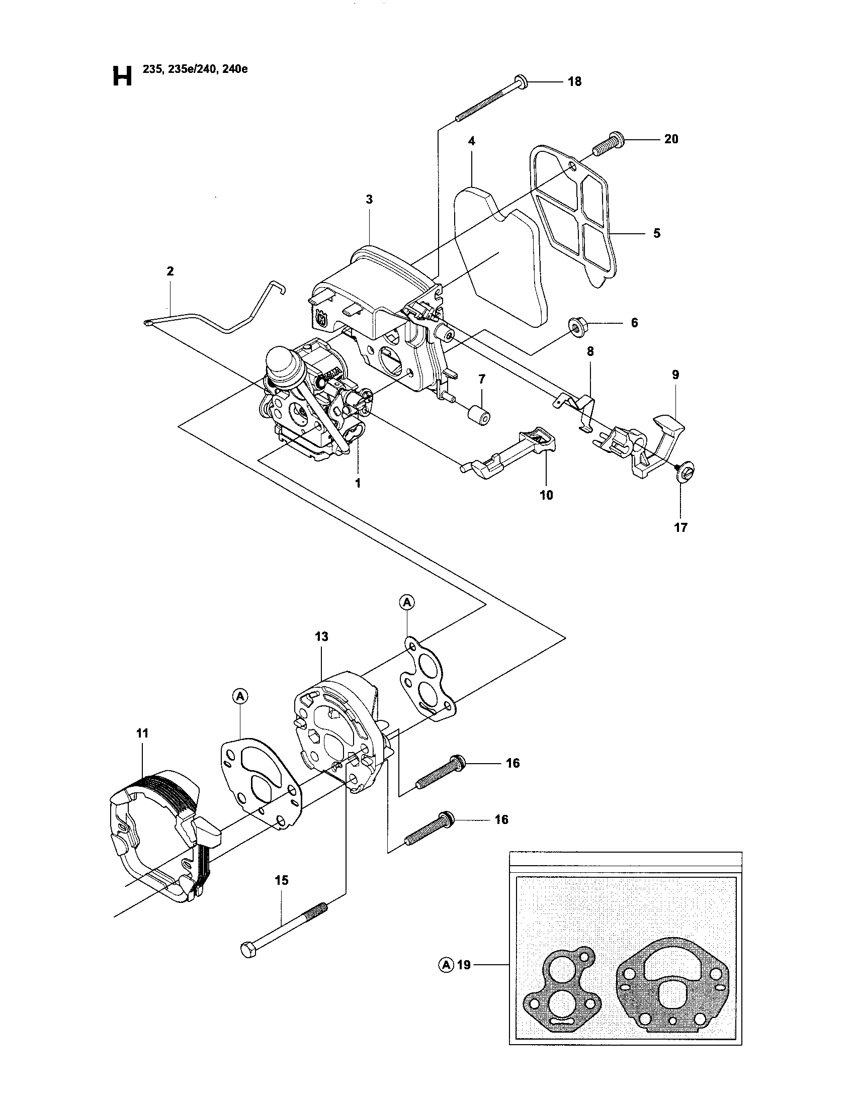 Husqvarna 240 Fuel Line Diagram, Husqvarna, Free Engine