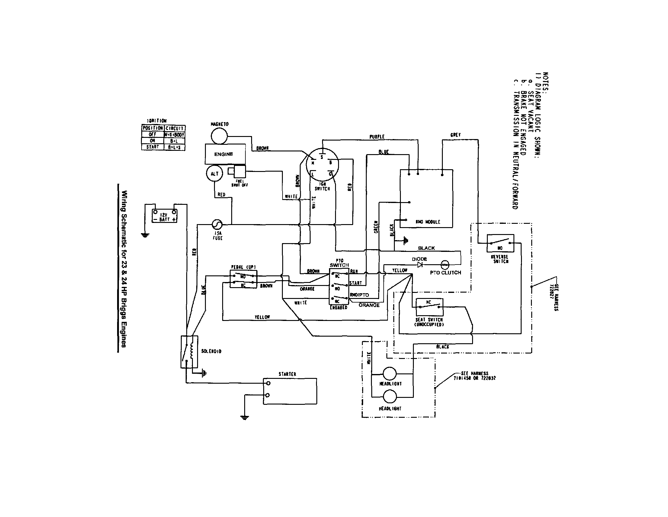 WIRING SCHEMATIC (7101446) Diagram & Parts List for Model