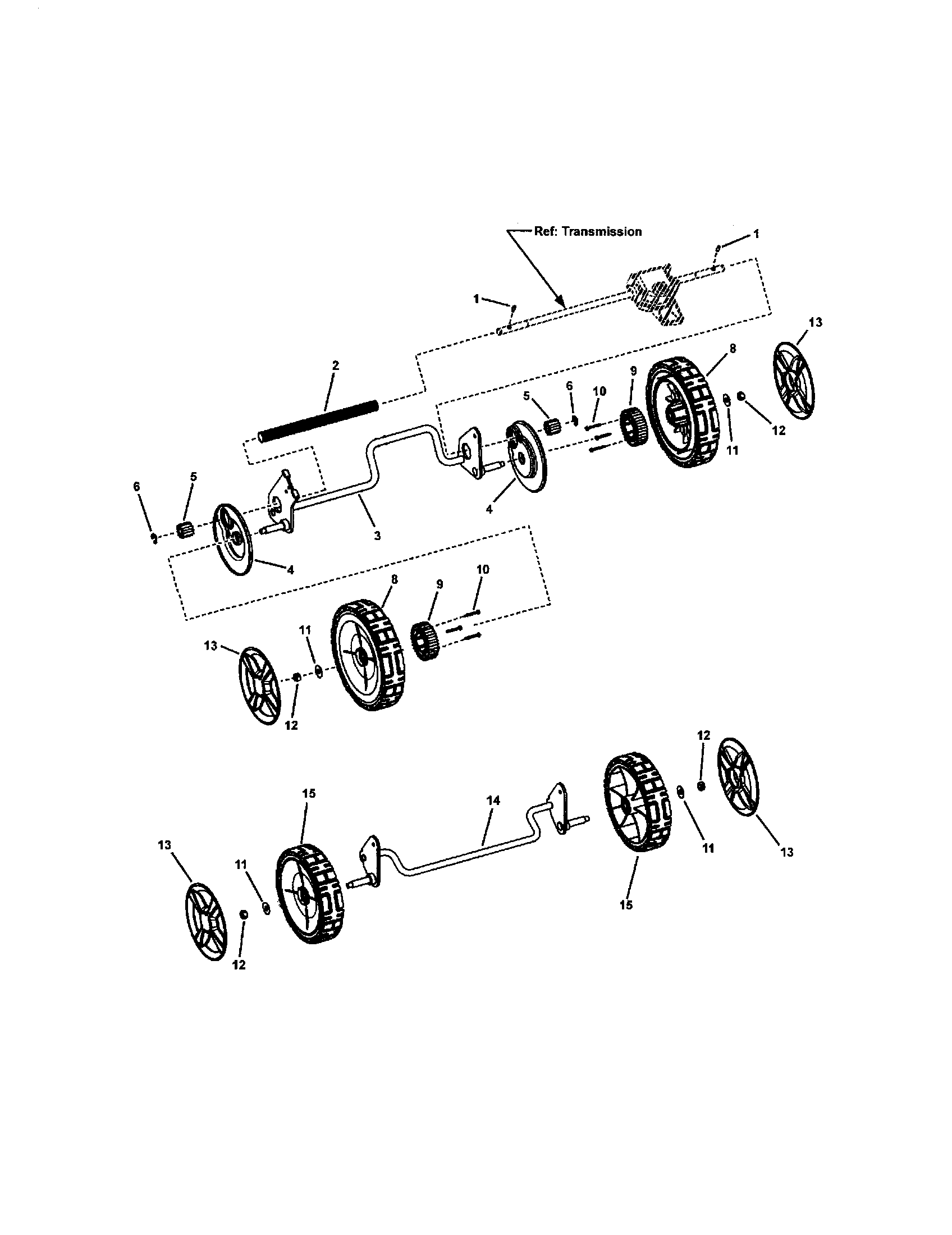 FRONT AND REAR WHEELS Diagram & Parts List for Model