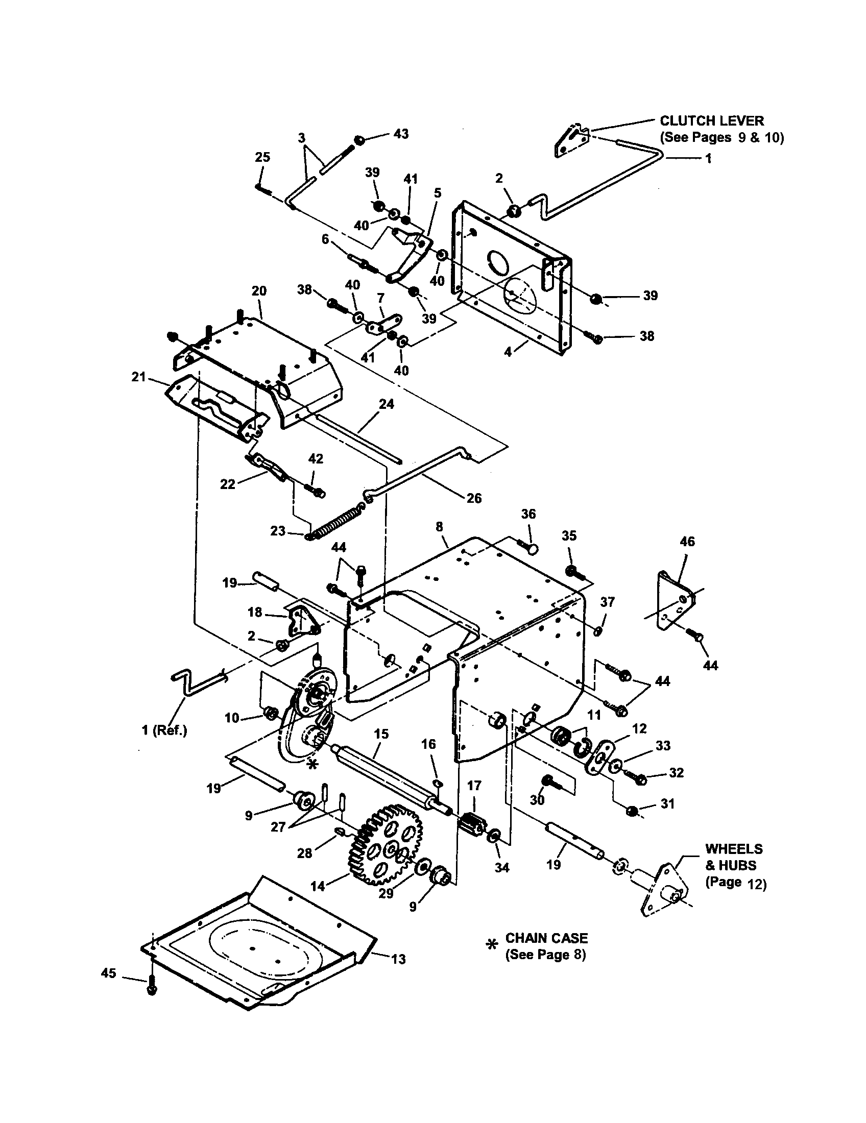 FRAME, TRACTION DRIVE Diagram & Parts List for Model 8245