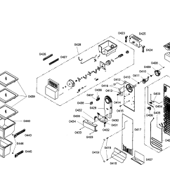 bosch refrigerator evaporator icemaker parts [ 2200 x 1696 Pixel ]