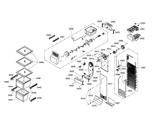 small resolution of bosch refrigerator evaporator icemaker parts