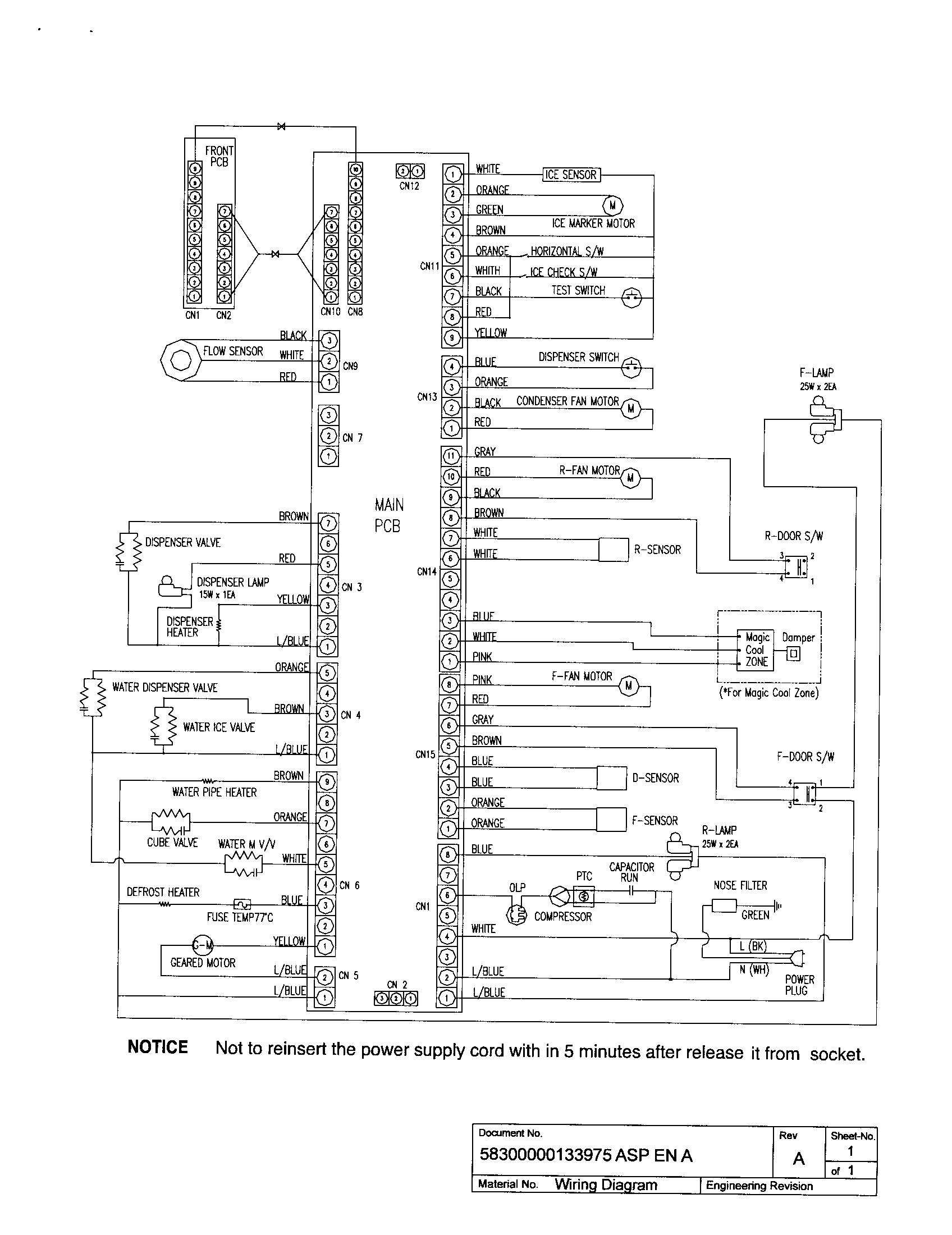 hight resolution of bosch refrigerator wiring diagram parts