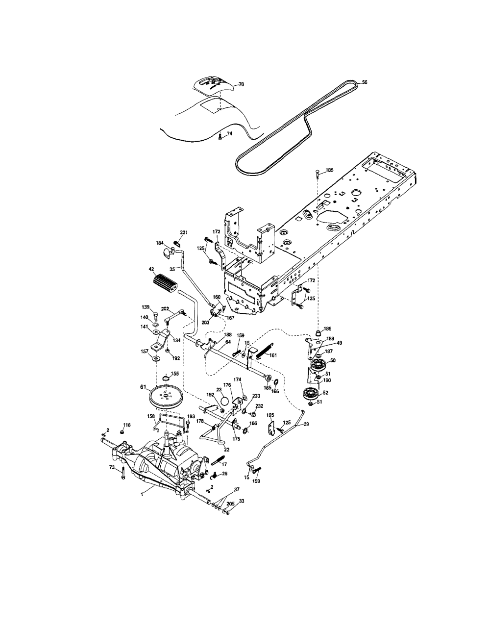 medium resolution of lt 1500 craftsman riding lawn mower belt diagram image