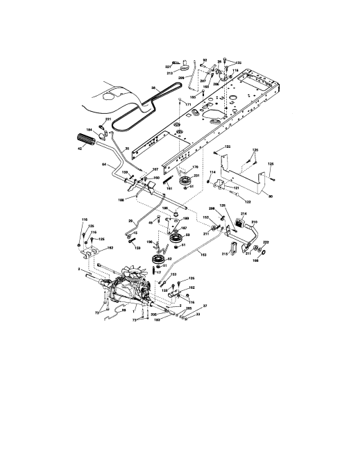 small resolution of craftsman 917288280 ground drive diagram