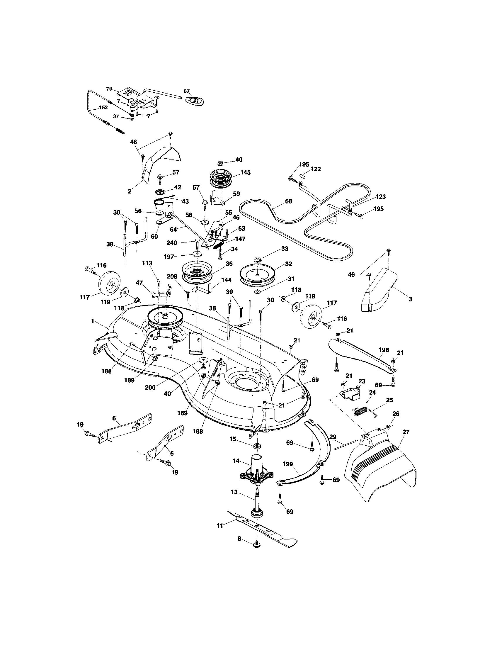 MOWER DECK Diagram & Parts List for Model 917288280