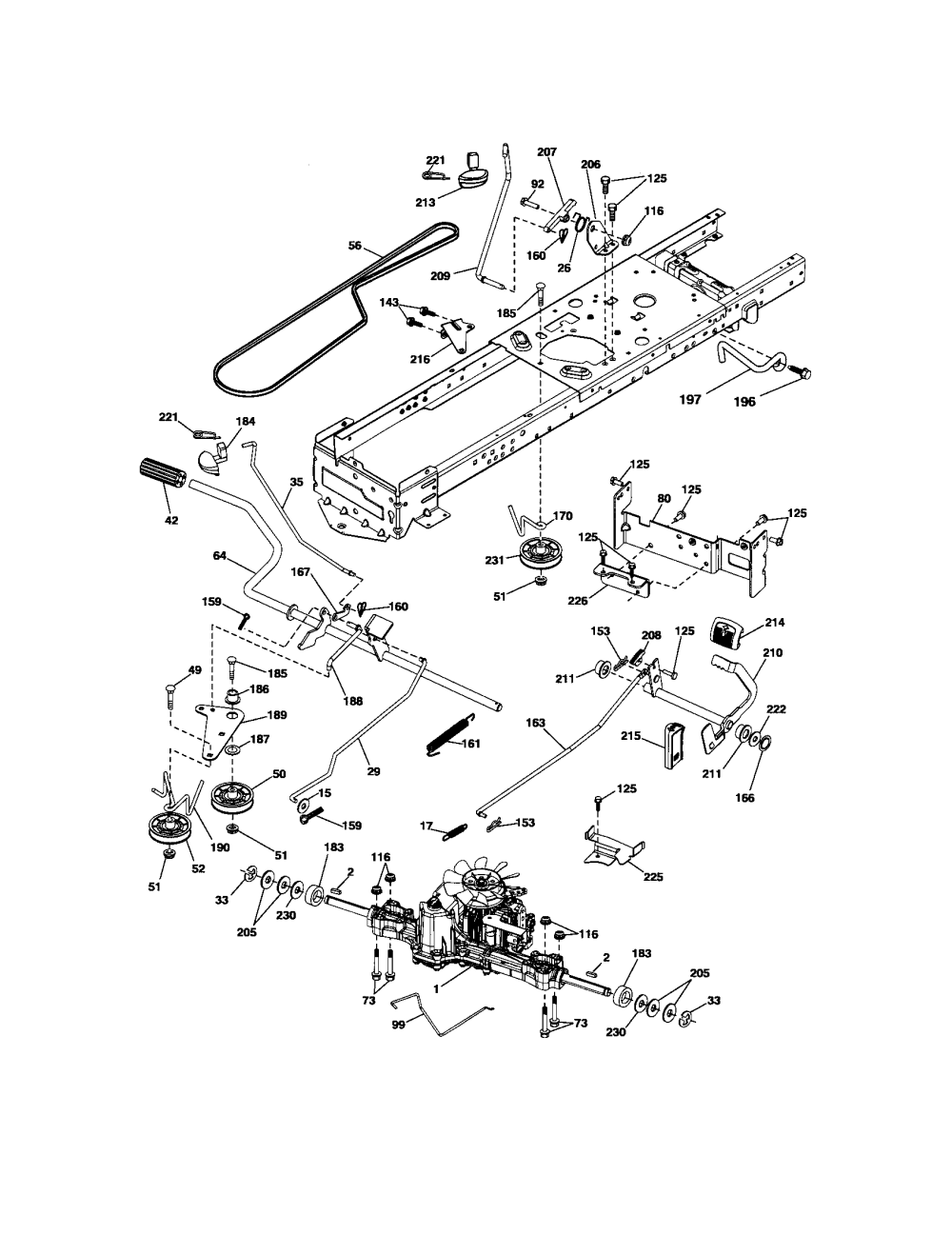 medium resolution of craftsman 917289900 ground drive diagram