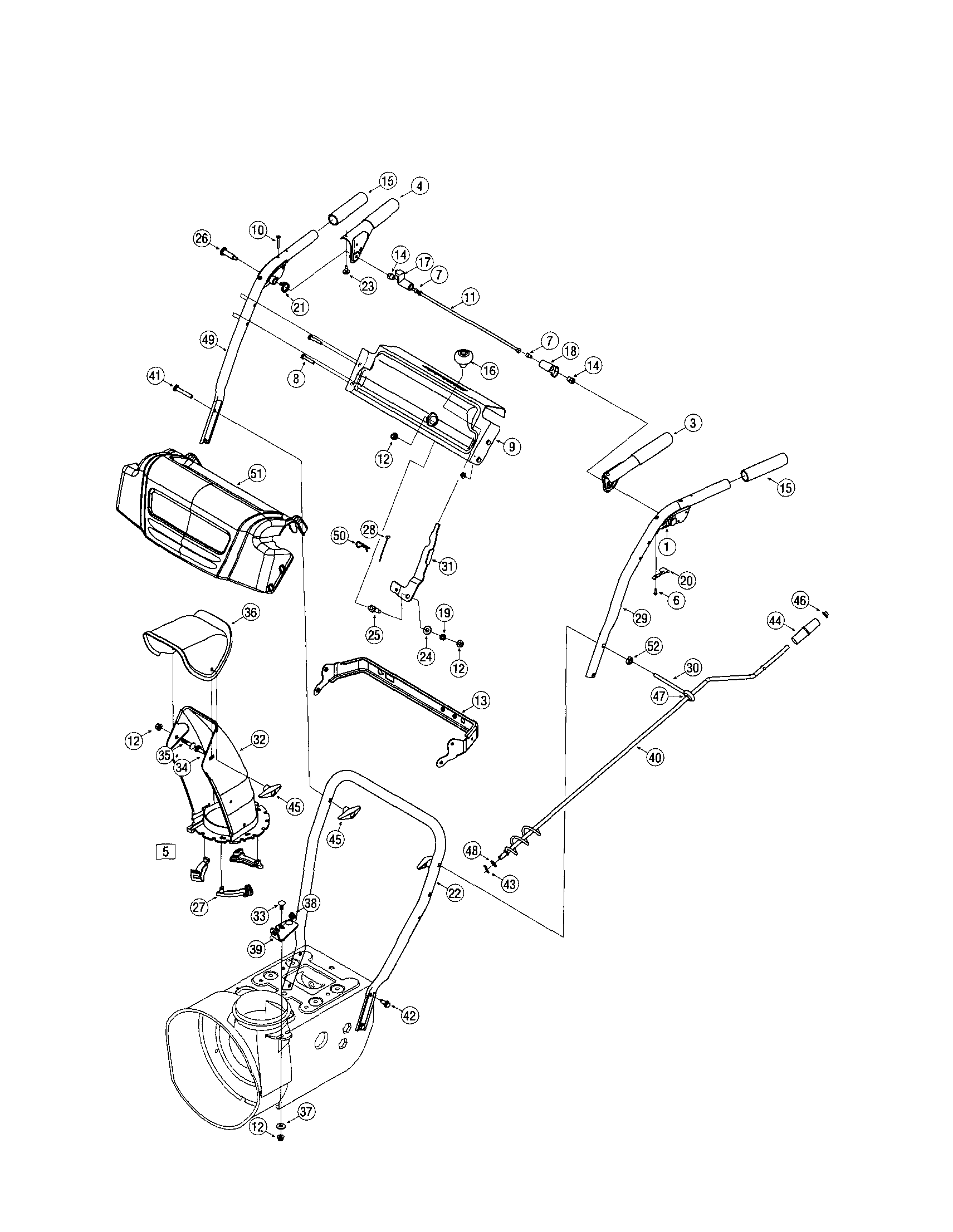 HANDLES Diagram & Parts List for Model 31as6weg799 Mtd