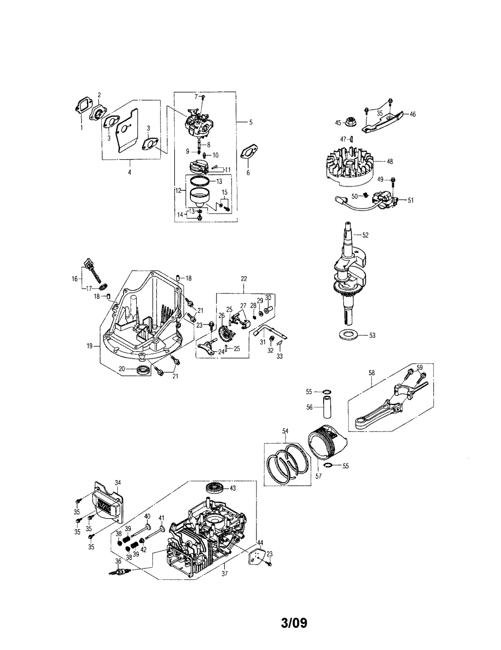 medium resolution of honda gcv160 lan5r cylinder crankshaft carburetor diagram