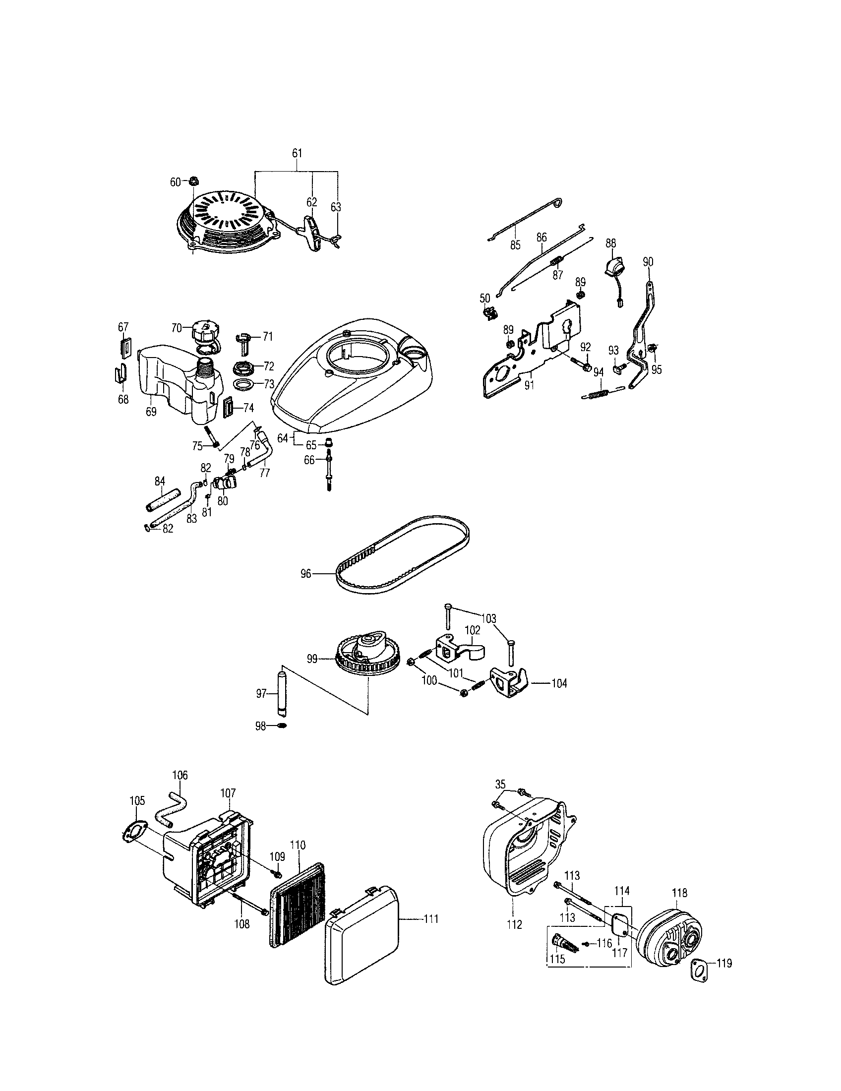 medium resolution of honda gcv160 lan5r fuel tank air cleaner diagram