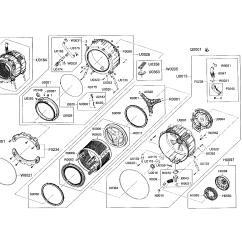 Frigidaire Front Load Washer Parts Diagram 3 Phase Motor Wiring U V W Ge Circuit Maker