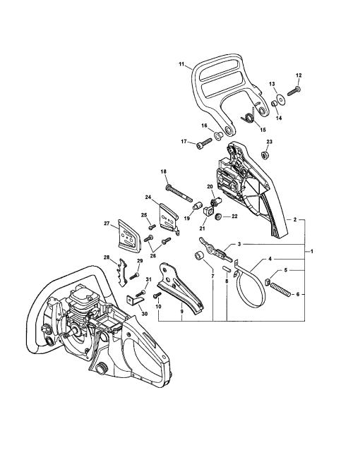 small resolution of echo cs 400 chain brake diagram