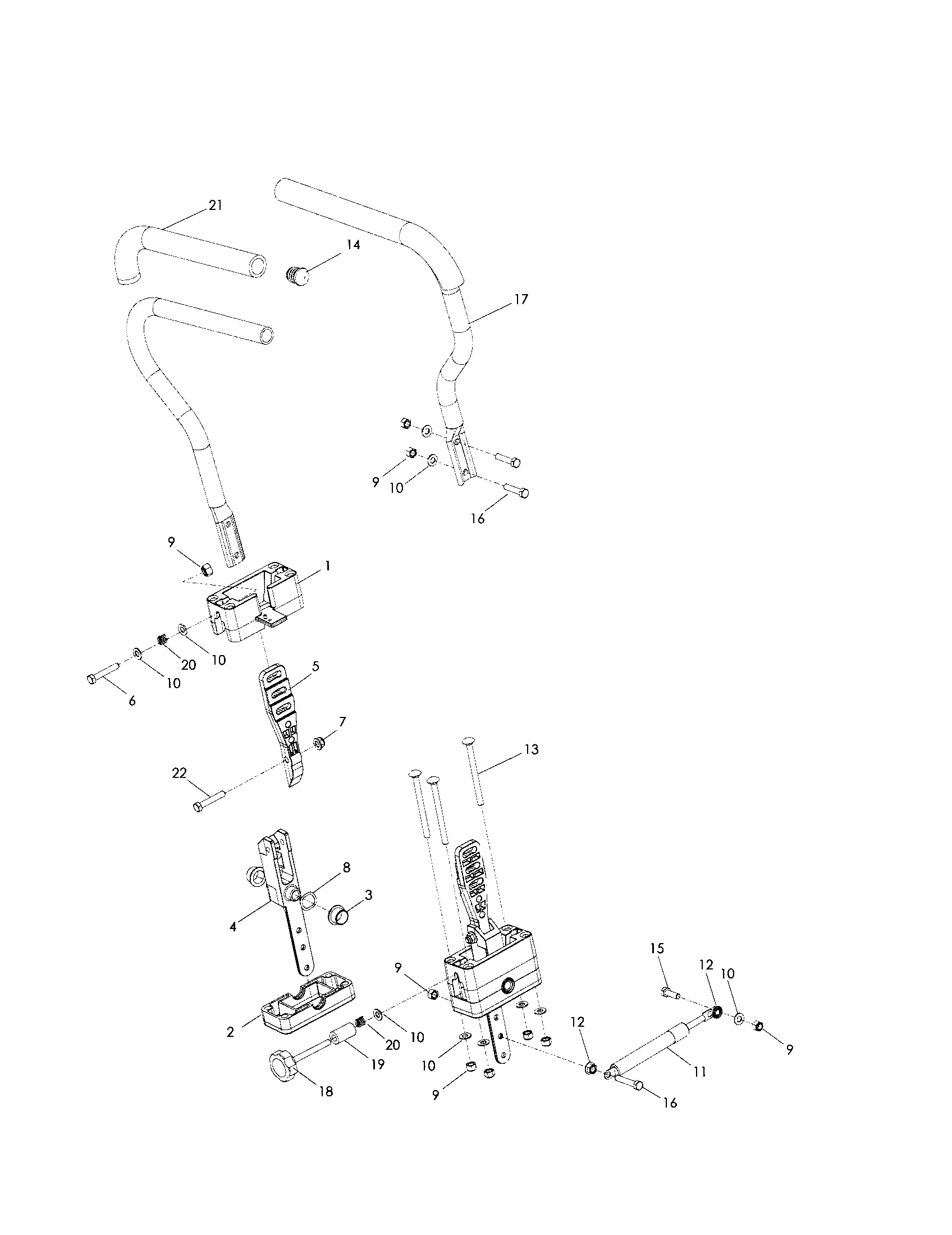 STEERING Diagram & Parts List for Model RZ5424 Husqvarna