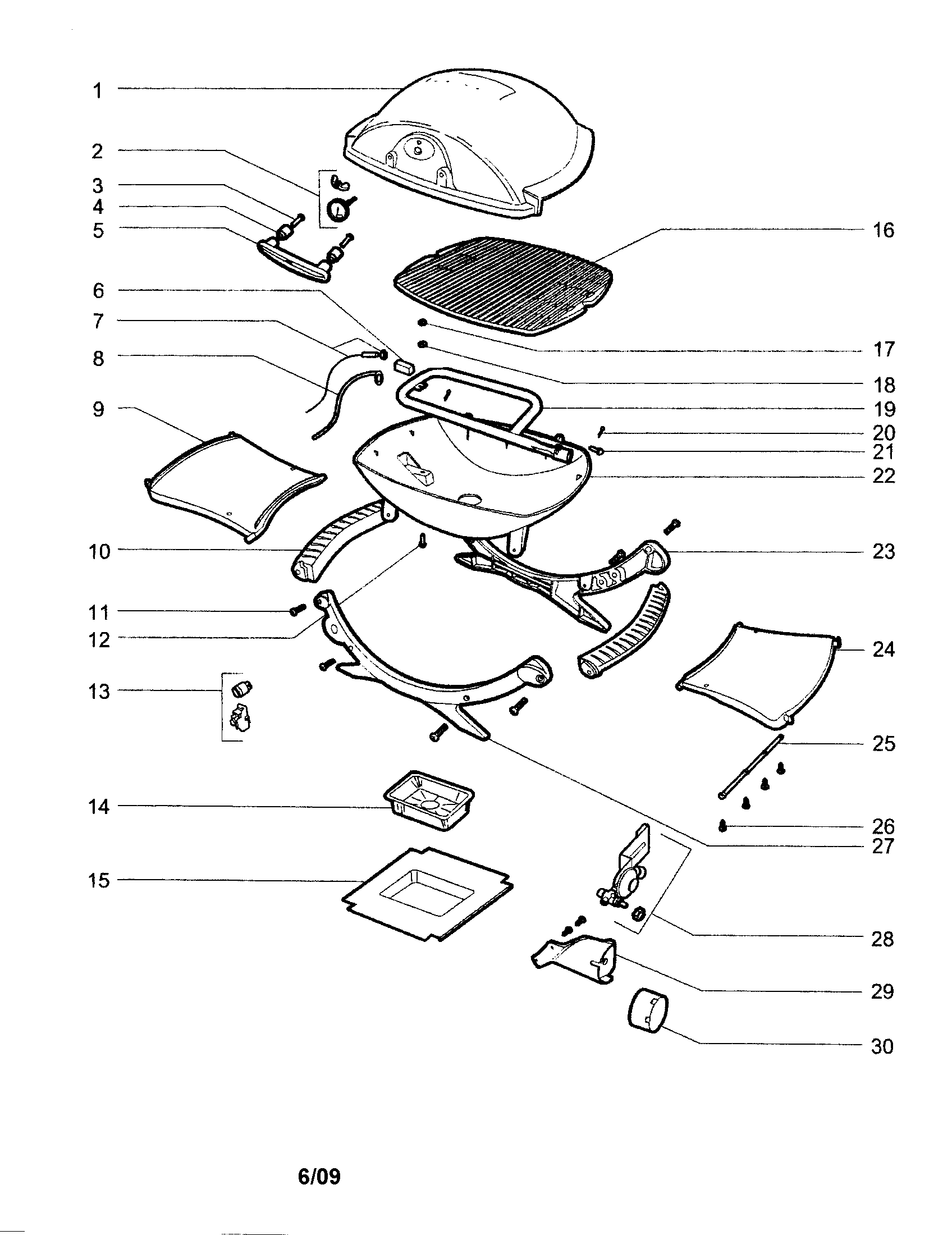 Weber Baby Q Parts Manual