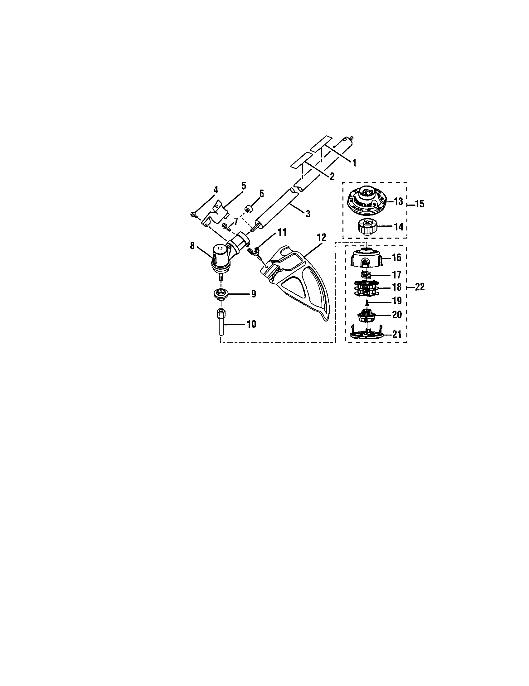 DEFLECTOR/STRING HEAD-RY30550 Diagram & Parts List for