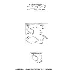 briggs stratton 124t05 4947 b2 gasket sets diagram [ 1696 x 2200 Pixel ]