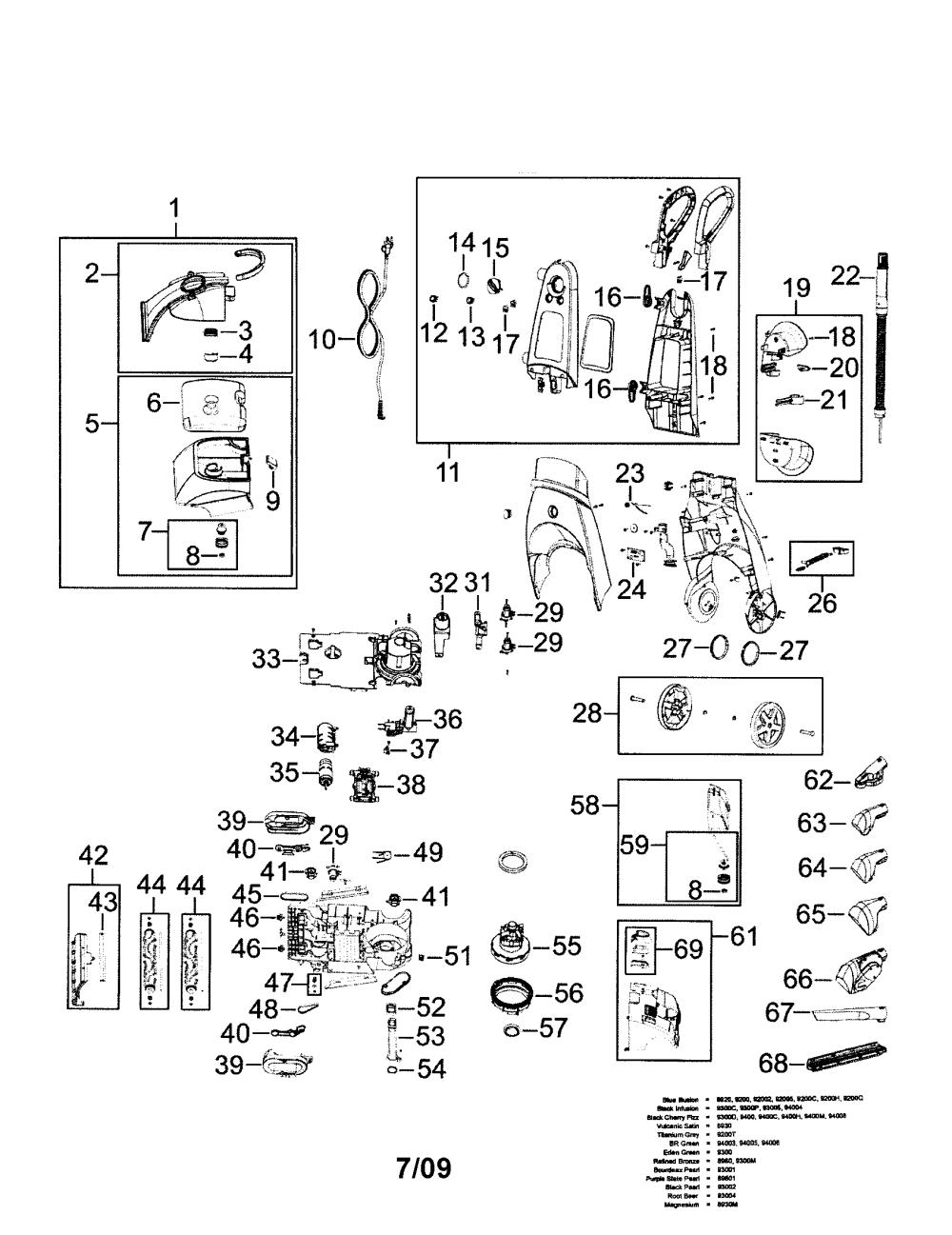 medium resolution of bissell model 9200 power steamer genuine parts schematics diagrams electrolux vacuum bissell vacuum cleaner wiring diagram
