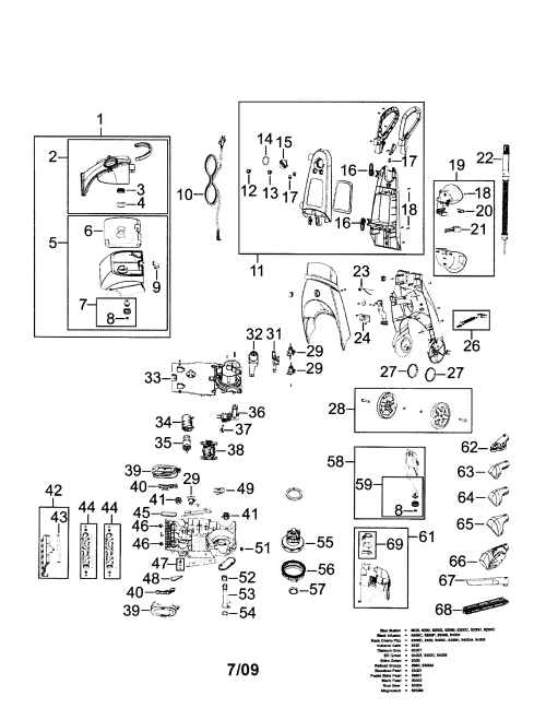 small resolution of bissell model 9200 power steamer genuine parts schematics diagrams electrolux vacuum bissell vacuum cleaner wiring diagram