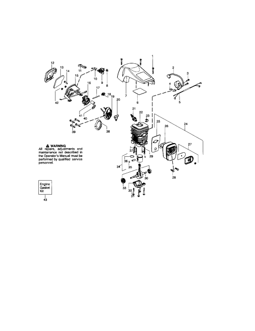 small resolution of craftsman sears chain saw cylinder shield crankshaft parts