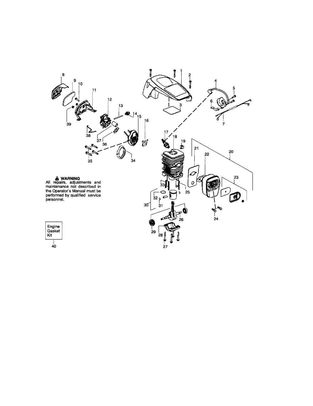 medium resolution of craftsman 358351810 cylinder shield crankshaft diagram