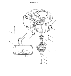 husqvarna z4218 968999281 engine kohler 20 hp diagram [ 1696 x 2200 Pixel ]