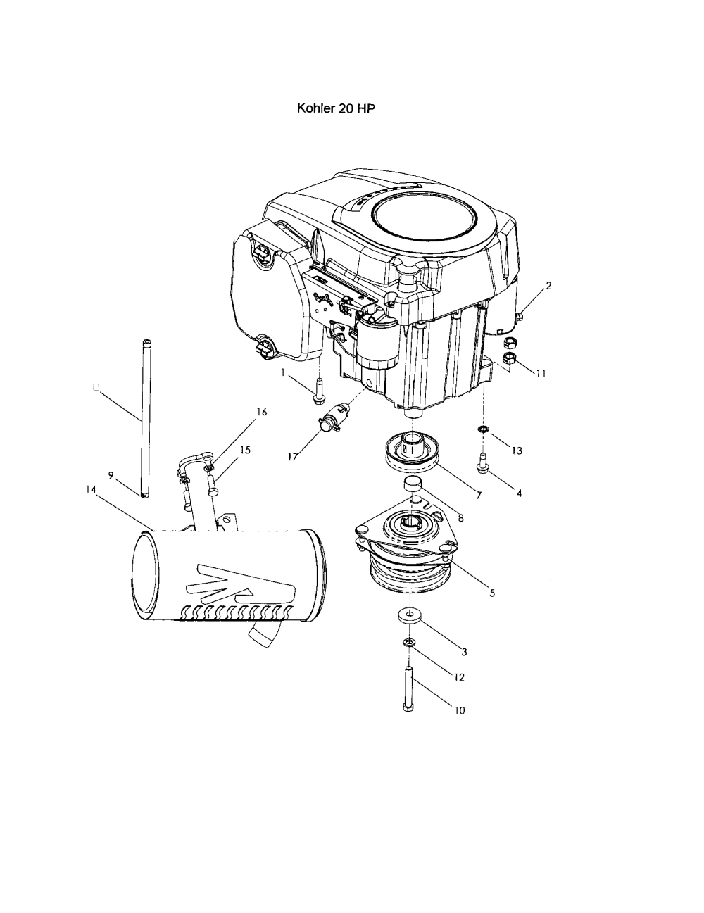 medium resolution of husqvarna z4218 968999281 engine kohler 20 hp diagram