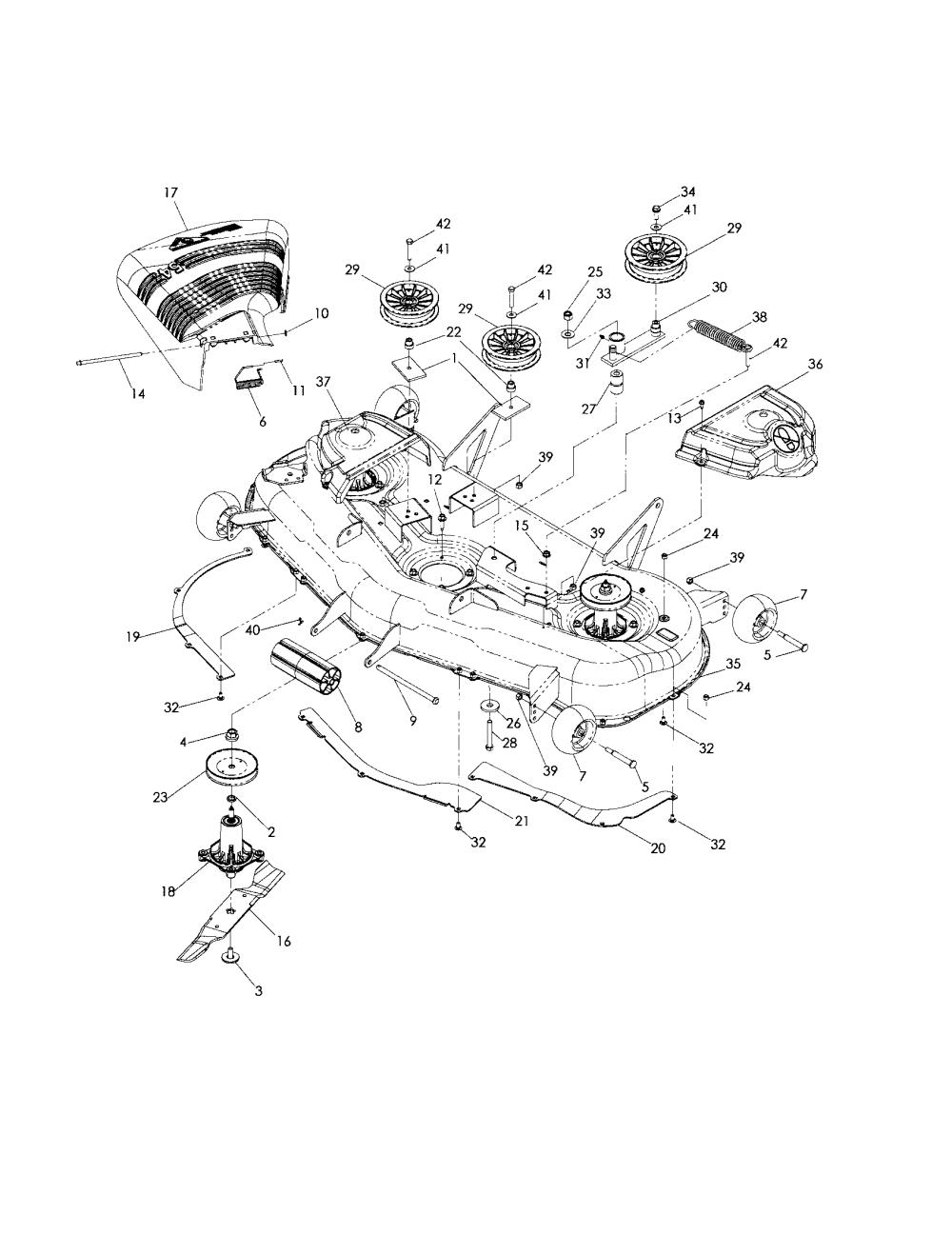 medium resolution of husqvarna model z5426 968999508 lawn riding mower rear engine genuine parts