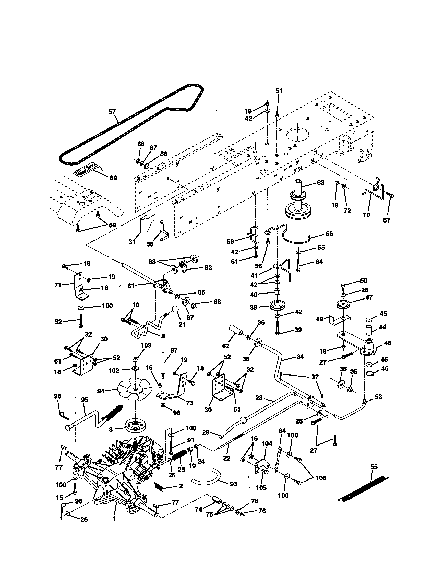 DRIVE Diagram & Parts List for Model 917252531 Craftsman