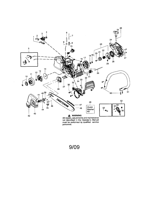 small resolution of craftsman 358351700 chassis bar handle diagram