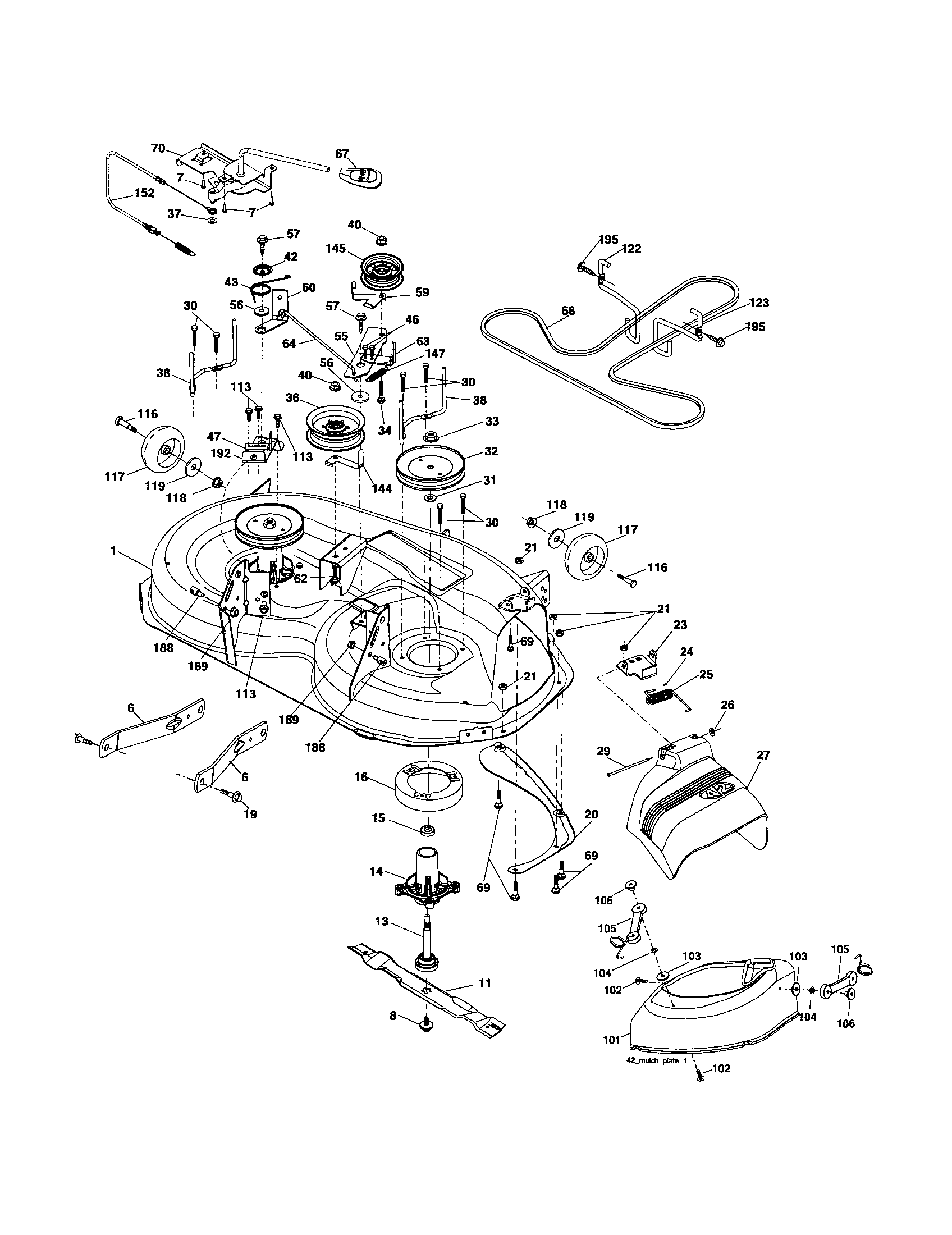 Poulan Pro Riding Lawn Mower Parts Diagram, Poulan, Free