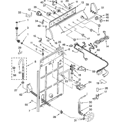 Whirlpool Washer Parts Diagram Nissan Patrol 2003 Stereo Wiring Controls And Rear Panel List For Model