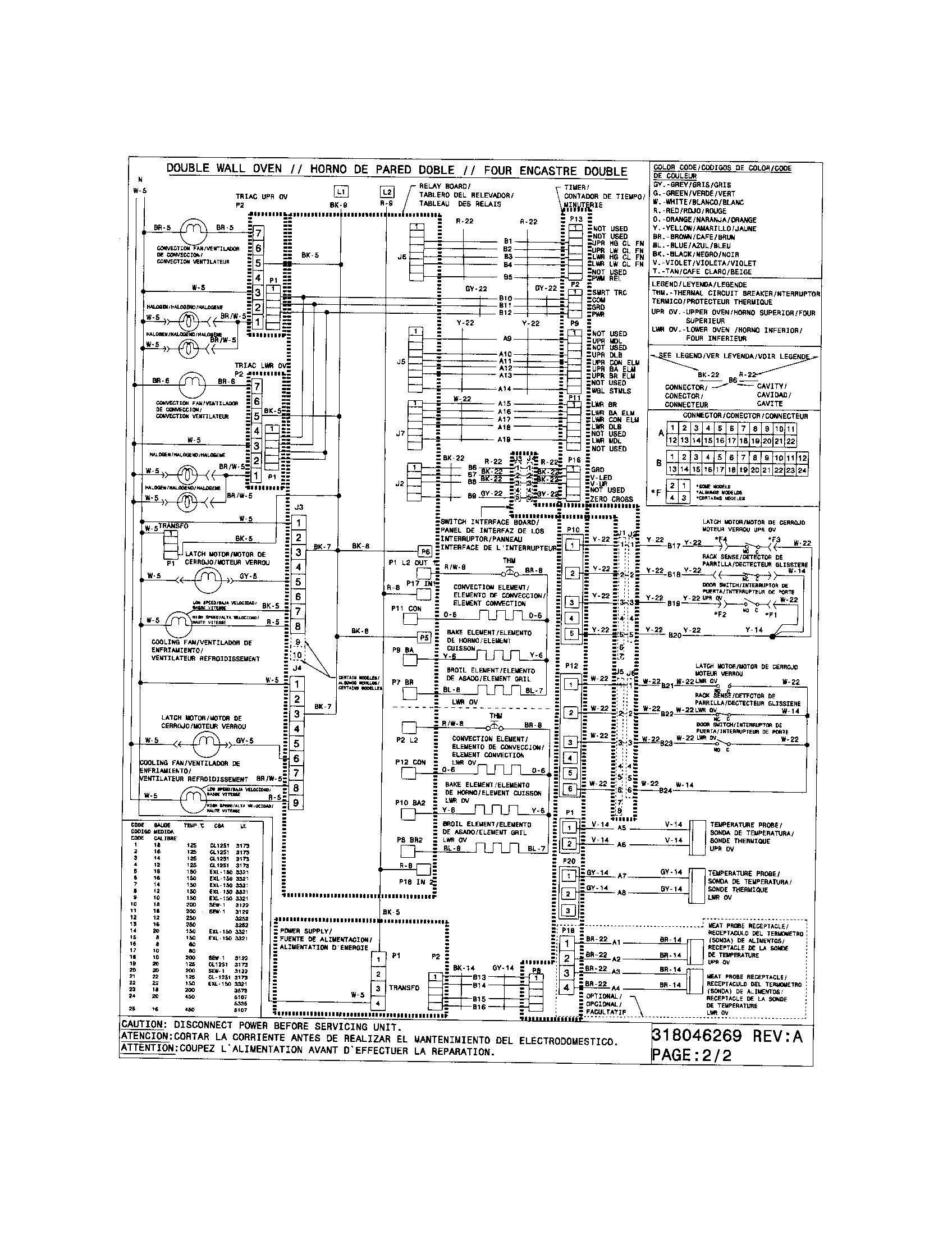 electrolux oven wiring diagram [ 1696 x 2200 Pixel ]