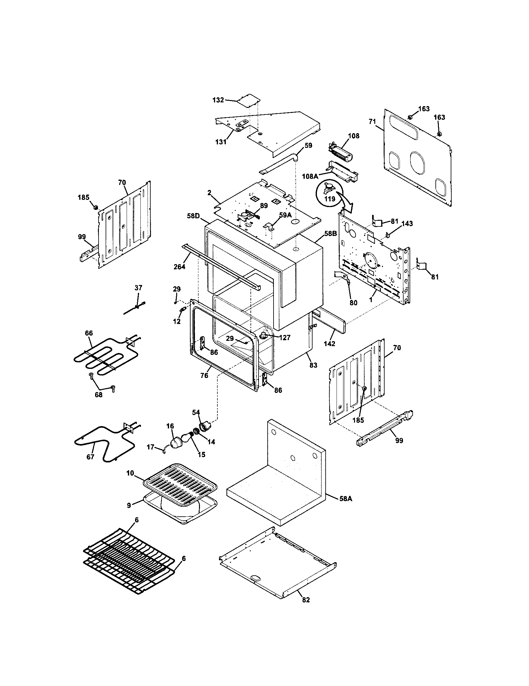 hight resolution of kenmore 79048733900 upper oven diagram