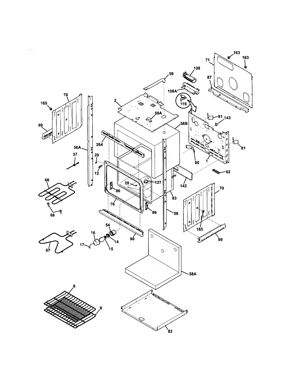 medium resolution of kenmore 79048733900 lower oven diagram