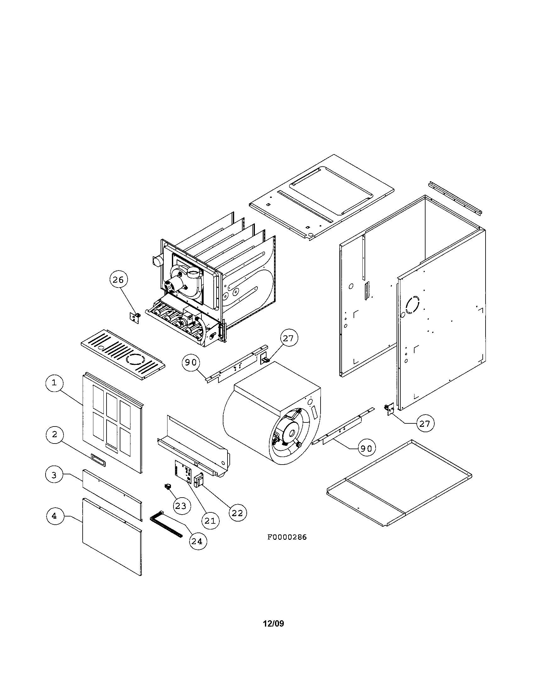 hight resolution of images of ducane furnace parts