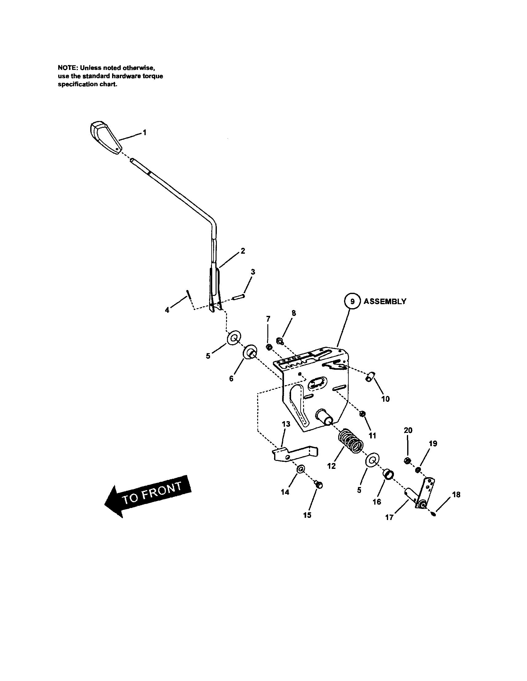 GEAR SHIFT Diagram & Parts List for Model 107280340