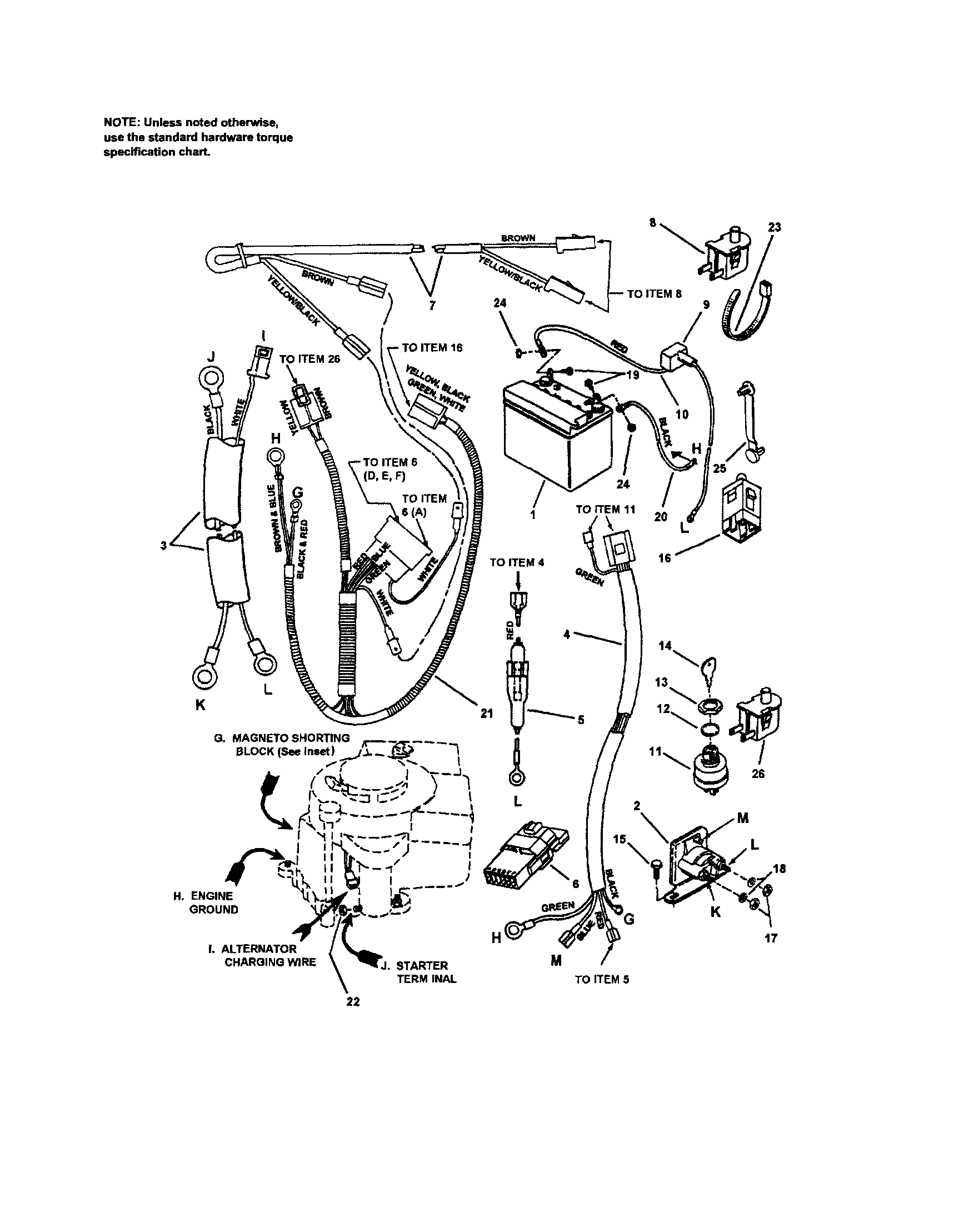 ELECTRICAL-12.5 HP BRIGGS Diagram & Parts List for Model