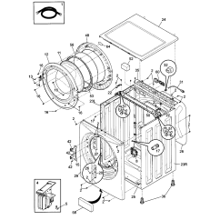 Front Load Washer Parts Diagram Kyowa Rice Cooker Wiring Frigidaire Affinity Repair Manual