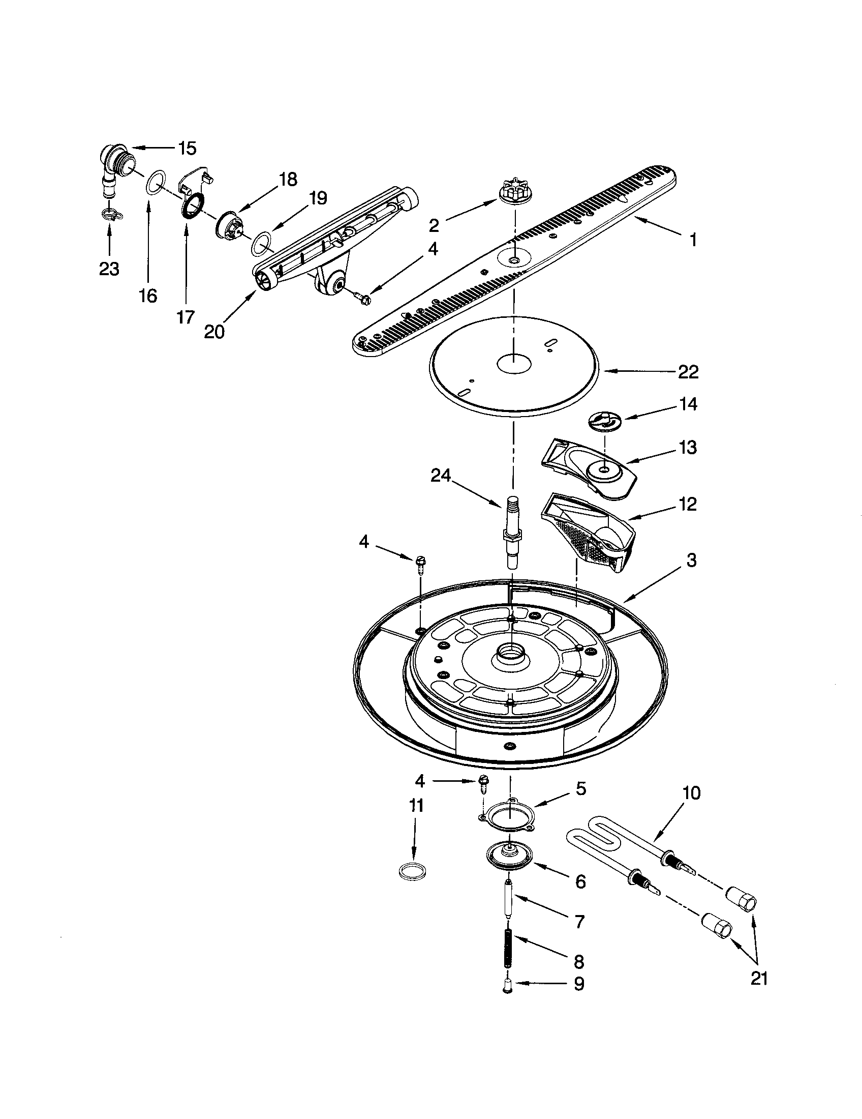 WASH SYSTEM Diagram & Parts List for Model 46513339600