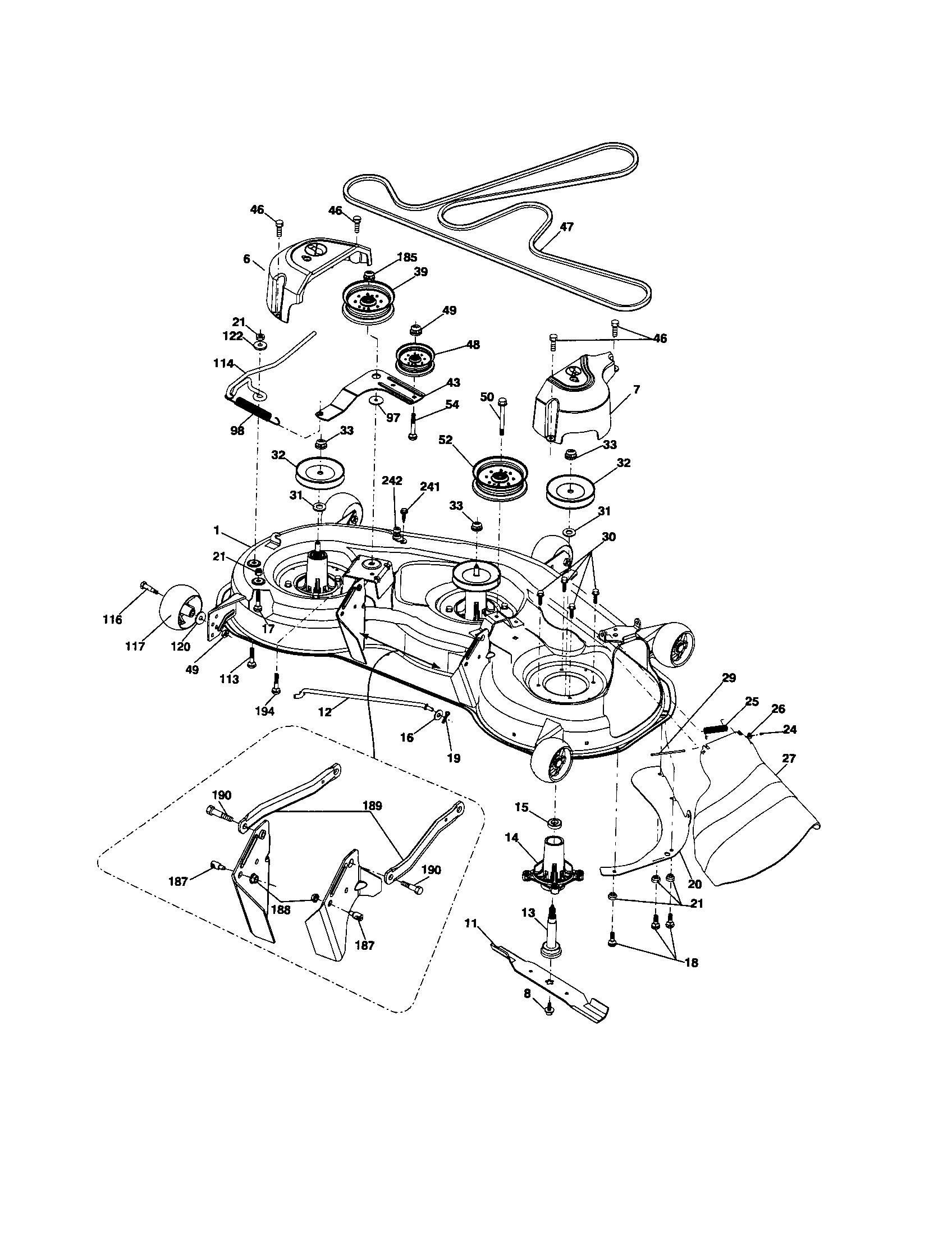 hight resolution of husqvarna yth2348 917289570 mower deck diagram