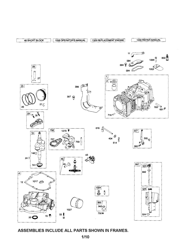 medium resolution of briggs stratton 331777 1372 b2 cylinder crankshaft crankcase diagram